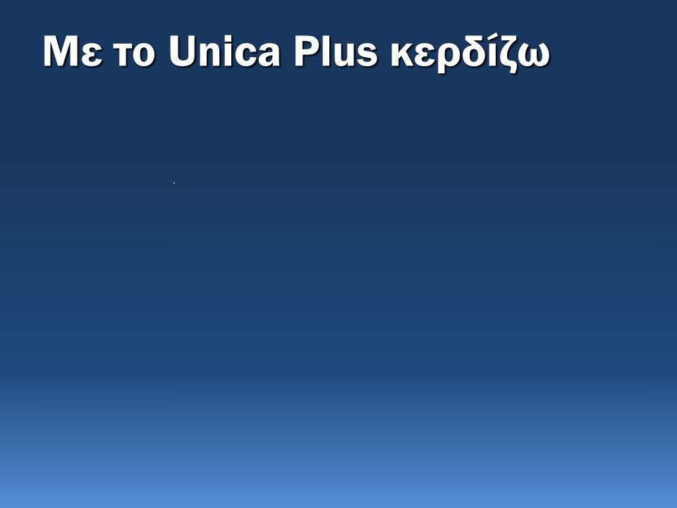 Αγοράζω το Unica Δεν Αγοράζω το Unica Όλα πηγαίνουν καλά 1.Το επενδυτικό σκέλος δίνει τη δυνατότητα απόδοσης μεσο- μακροπρόθεσμα 2.Κρατάω ανοιχτή την