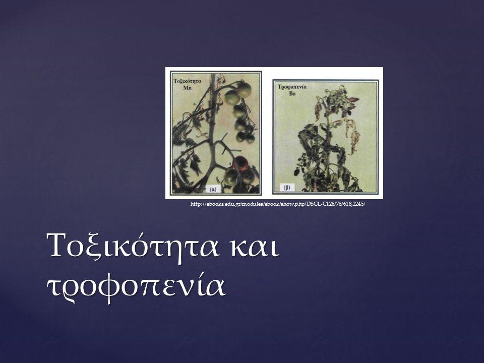 Τοξικότητα και τροφοπενία http://ebooks.edu.gr/modules/ebook/show.php/DSGL-C126/76/618,2245/