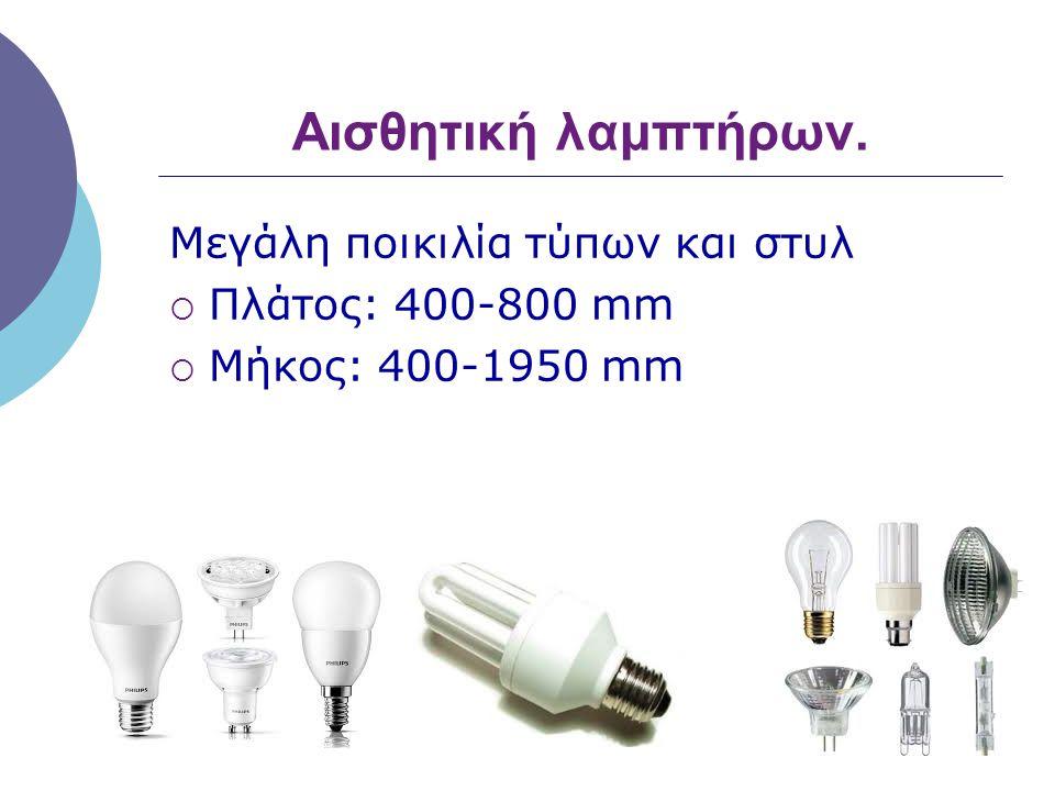Ποιότητα φωτός.  Λευκό φως «κρύο»  Κίτρινο φως «ζεστό»