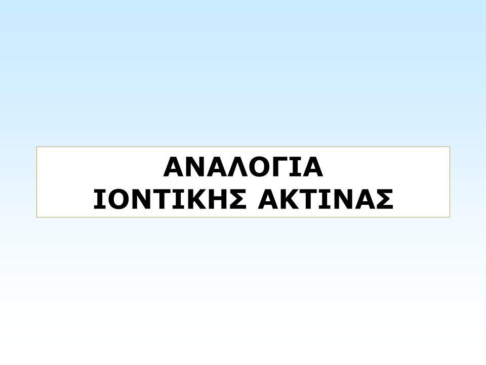 ΑΝΑΛΟΓΙΑ ΙΟΝΤΙΚΗΣ ΑΚΤΙΝΑΣ
