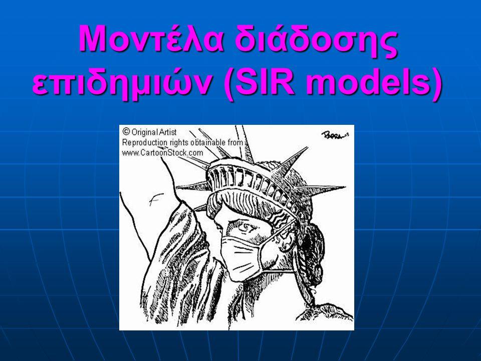 Μοντέλα διάδοσης επιδημιών (SIR models)