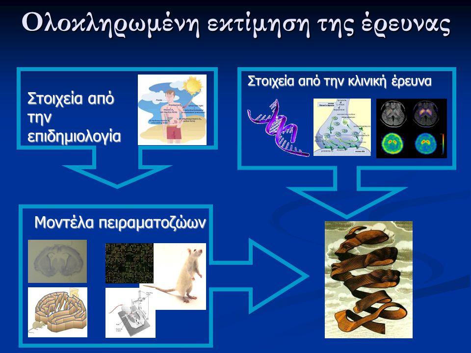 Ολοκληρωμένη εκτίμηση της έρευνας Στοιχεία από την επιδημιολογία Μοντέλα πειραματοζώων Στοιχεία από την κλινική έρευνα