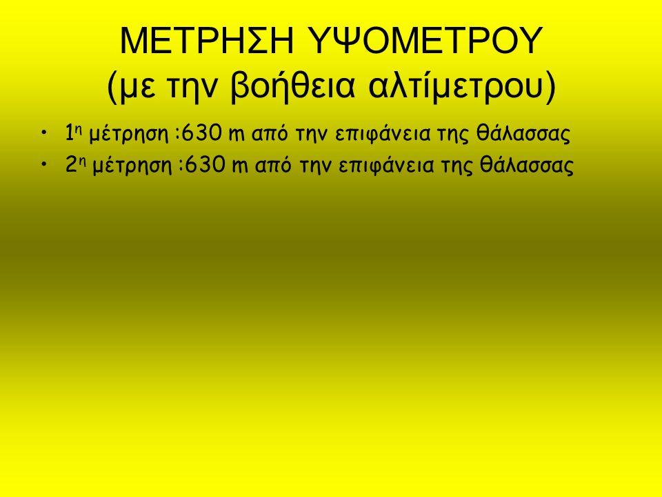 ΜΕΤΡΗΣΗ ΔΙΑΛΥΜΕΝΟΥ ΟΞΥΓΟΝΟΥ ΣΤΟ ΝΕΡΟ (με οξυγονομετρο) Μέτρηση :3,3 mg/l (επιθυμητό όριο >6mg/l)