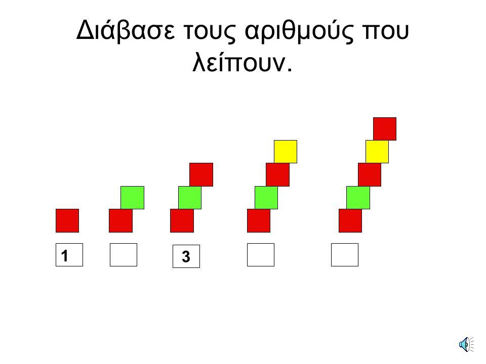 Ποιοι αριθμοί λείπουν από τα κουτάκια; 1 2 4