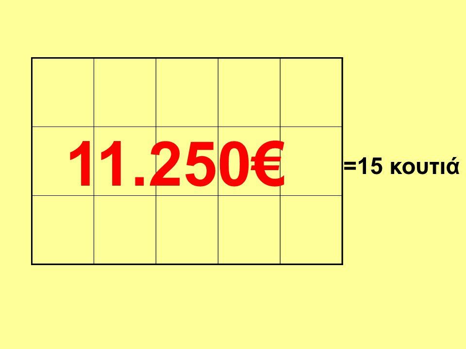 11.250€ =15 κουτιά