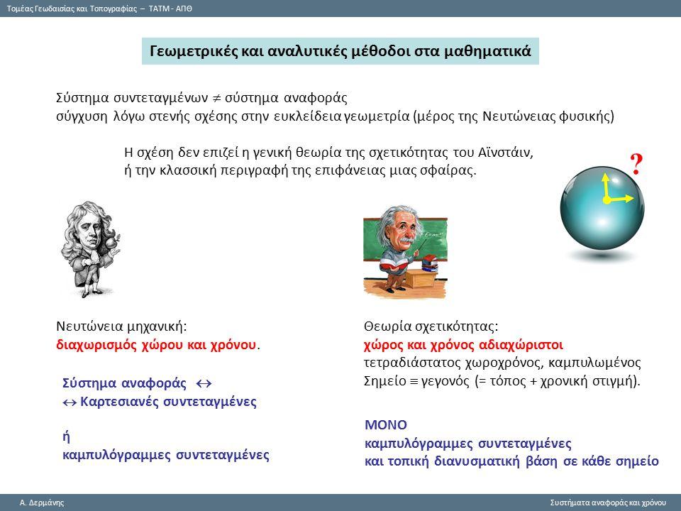 Tομέας Γεωδαισίας και Τοπογραφίας – ΤΑΤΜ - ΑΠΘ A.