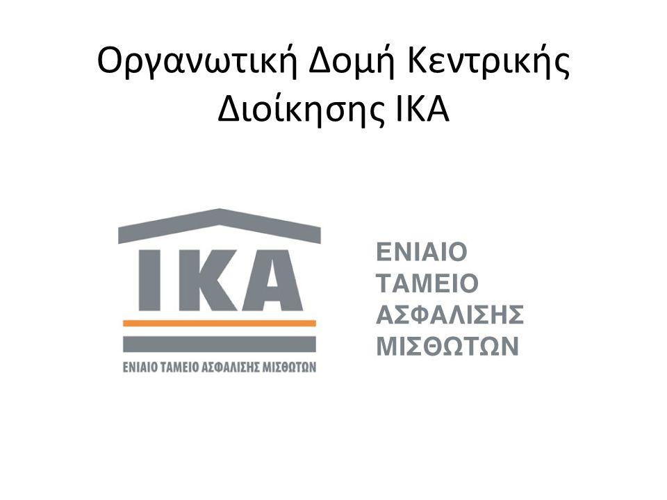 Οργανωτική Δομή Κεντρικής Διοίκησης ΙΚΑ