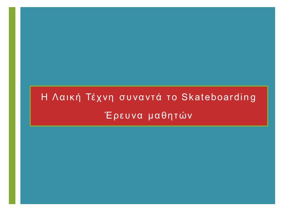 + Η Λαική Τέχνη συναντά το Skateboarding Έρευνα μαθητών