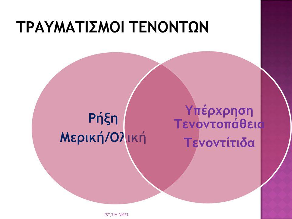 ΤΡΑΥΜΑΤΙΣΜΟΙ ΤΕΝΟΝΤΩΝ IST/UH NΜΣ1