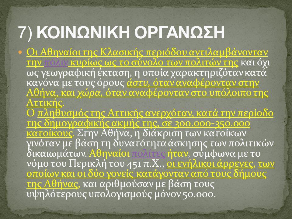 Οι Αθηναίοι της Κλασικής περιόδου αντιλαμβάνονταν την πόλιν κυρίως ως το σύνολο των πολιτών της και όχι ως γεωγραφική έκταση, η οποία χαρακτηριζόταν κ