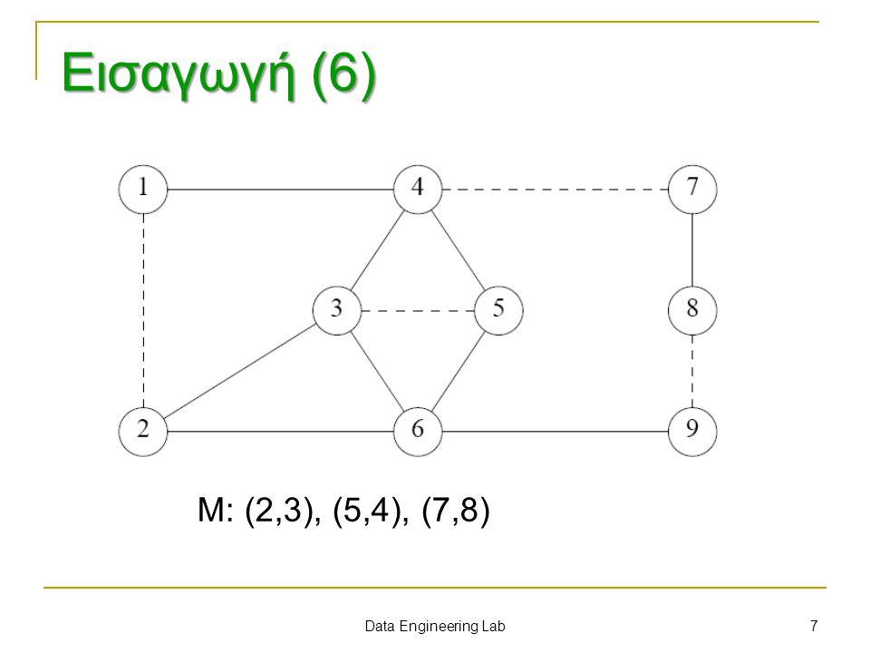 Μ: (2,3), (5,4), (7,8) 7 Data Engineering Lab Εισαγωγή (6)