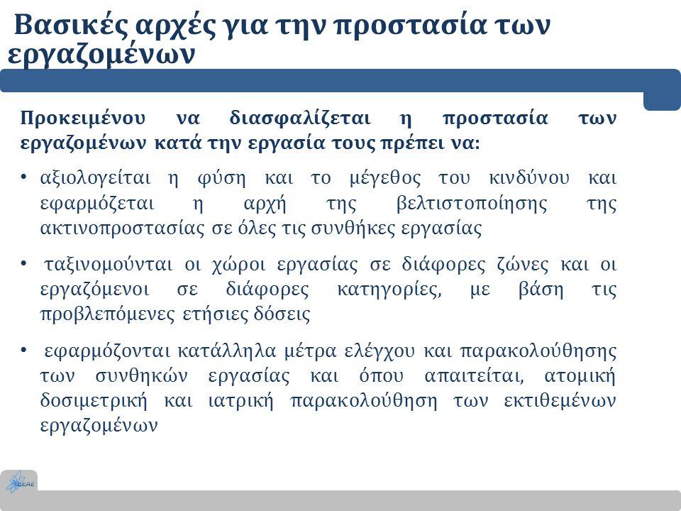 Βασικές αρχές για την προστασία των εργαζομένων Προκειμένου να διασφαλίζεται η προστασία των εργαζομένων κατά την εργασία τους πρέπει να: αξιολογείται
