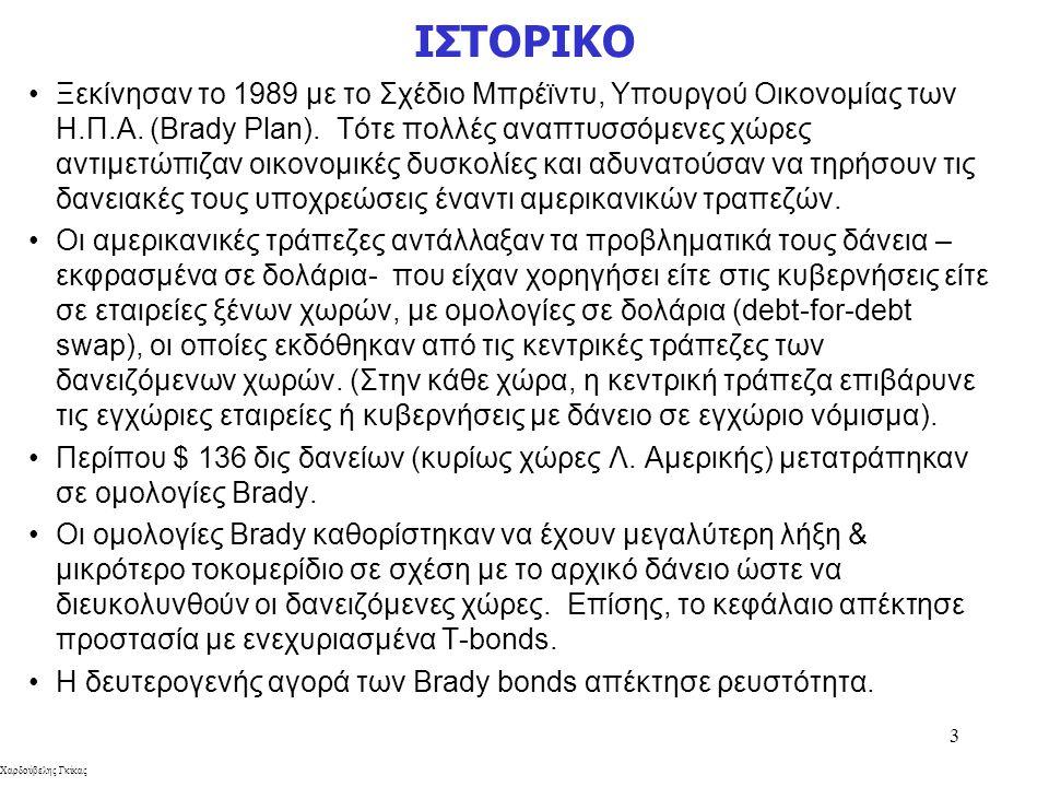 Χαρδούβελης Γκίκας 3 ΙΣΤΟΡΙΚΟ Ξεκίνησαν το 1989 με το Σχέδιο Μπρέϊντυ, Υπουργού Οικονομίας των Η.Π.Α. (Brady Plan). Τότε πολλές αναπτυσσόμενες χώρες α