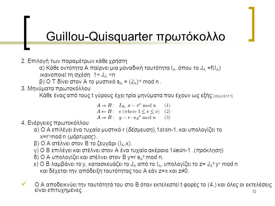 72 Guillou-Quisquarter πρωτόκολλο 2.