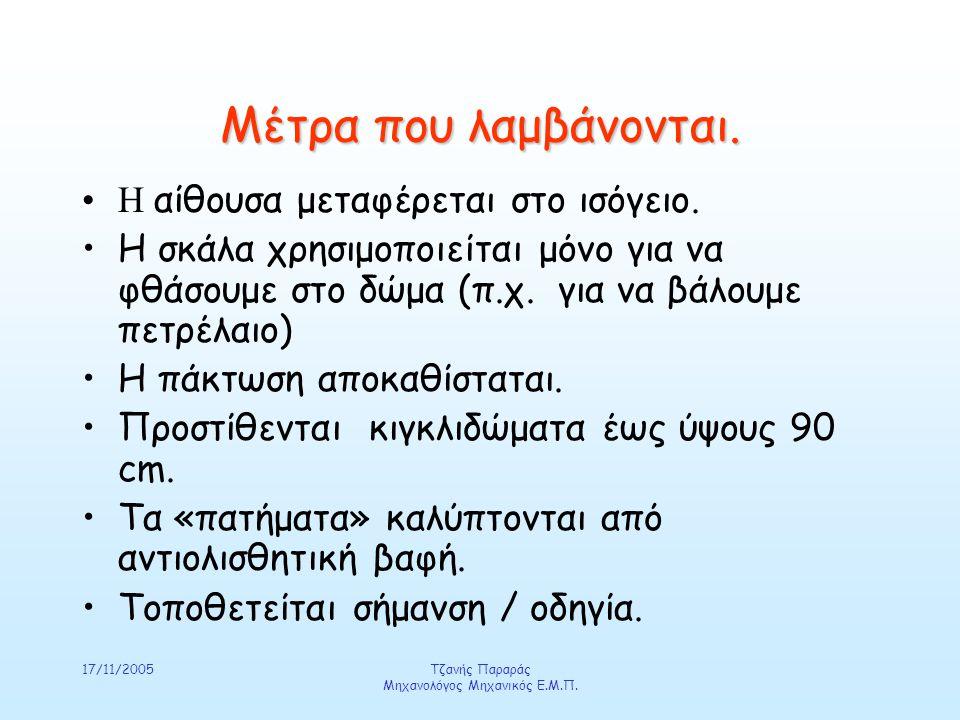 17/11/2005Τζανής Παραράς Μηχανολόγος Μηχανικός Ε.Μ.Π.