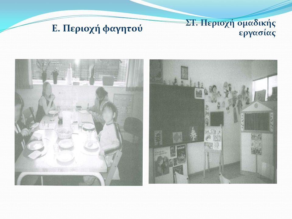 Ε. Περιοχή φαγητού ΣΤ. Περιοχή ομαδικής εργασίας