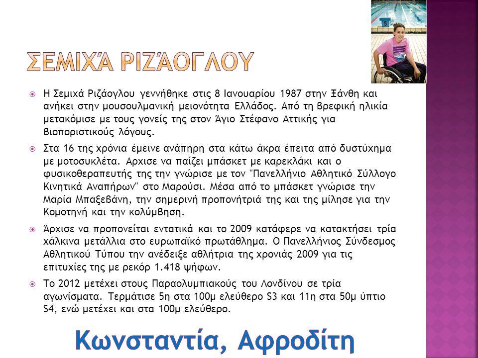  Η Αλεξάνδρα Δήμογλου γεννήθηκε στις 15 Δεκεμβρίου 1981 στην Καβάλα. Ξεκίνησε τον αθλητισμό το 1991 και μετέχει σε αγώνες από το 1992. Το 2005 κατέκτ