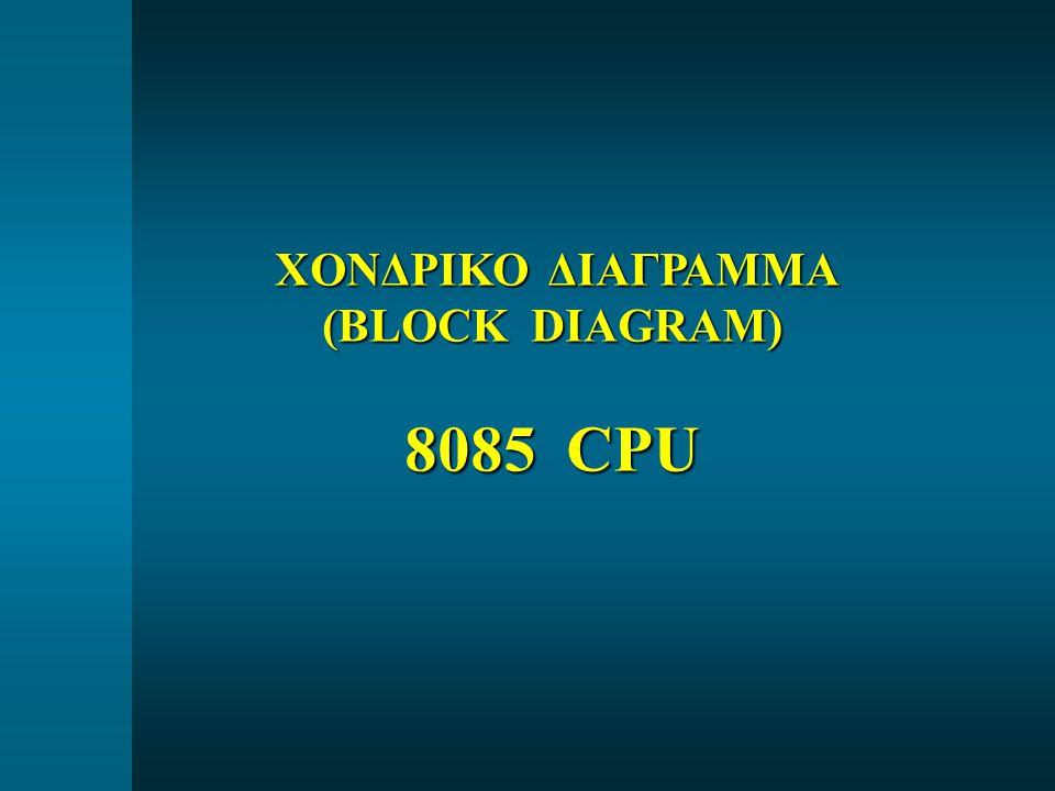 ΧΟΝΔΡΙΚΟ ΔΙΑΓΡΑΜΜΑ ΧΟΝΔΡΙΚΟ ΔΙΑΓΡΑΜΜΑ (BLOCK DIAGRAM) 8085 CPU