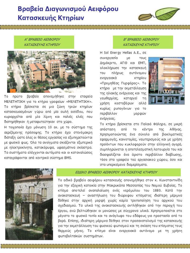Πρόοδος Έργου - Επόμενες Ενέργειες Η ομάδα εργασίας του SUSCON αποφάσισε να καθιερώσει τη διενέργεια αειφόρου κατασκευής κτηρίων κάθε δύο χρόνια.