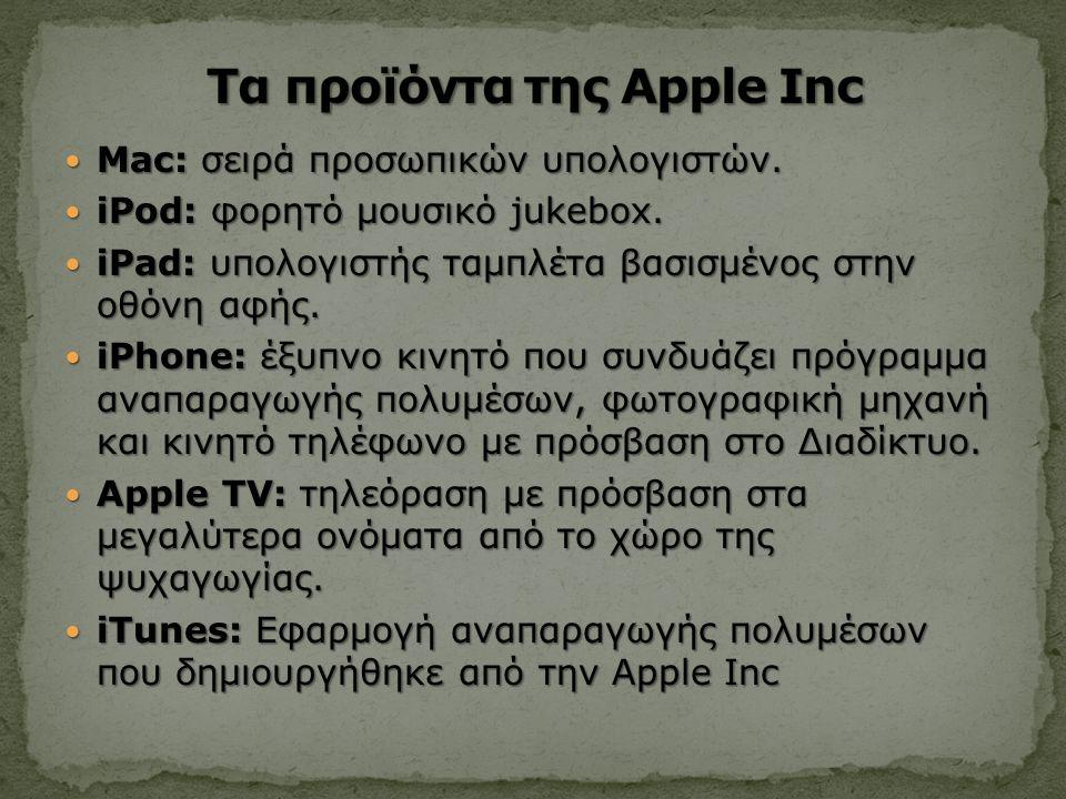 Mac: σειρά προσωπικών υπολογιστών. Mac: σειρά προσωπικών υπολογιστών.