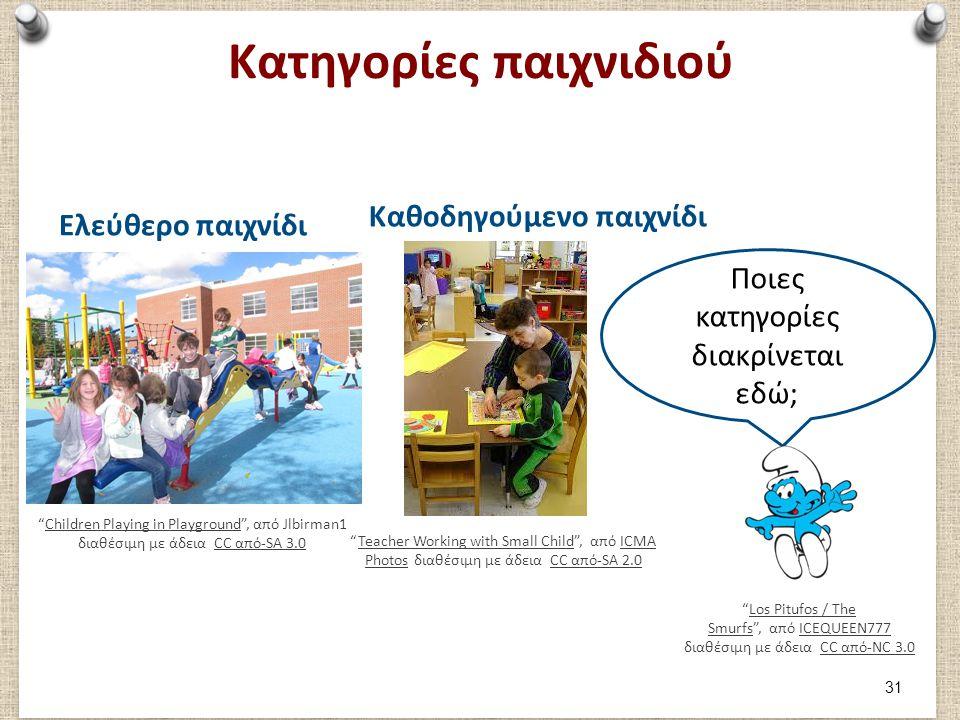 """Κατηγορίες παιχνιδιού Ελεύθερο παιχνίδι """"Children Playing in Playground"""", από Jlbirman1 διαθέσιμη με άδεια CC από-SA 3.0Children Playing in Playground"""