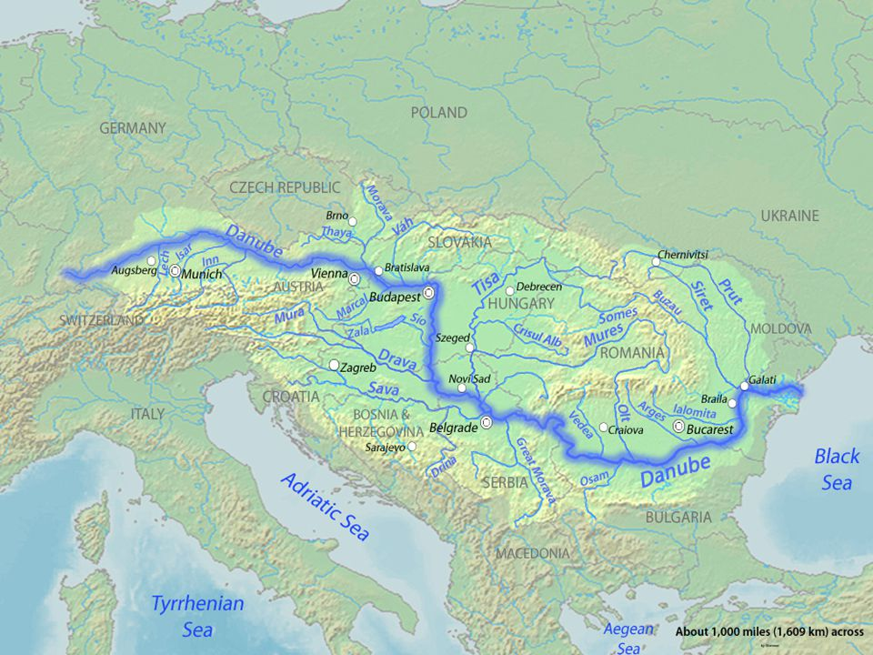 ΔΟΥΝΑΒΗΣ ΔΟΥΝΑΒΗΣ : Είναι ο μεγαλύτερος ποταμός της Ευρώπης μετά τον Βόλγα. Πηγάζει από τον Μέλανα Δρυμό της Γερμανίας και εκβάλλει με ένα ευρύ δέλτα