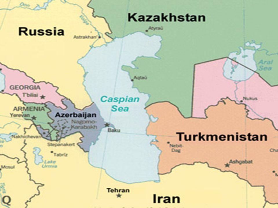 Κασπία Θάλασσα Η Κασπία Θάλασσα είναι η μεγαλύτερη λίμνη της Γης. Έχει συνολική επιφάνεια 371.000 km 2. και όγκο νερού 78.200 κυβ.χιλιομέτρων. Ονομάζε