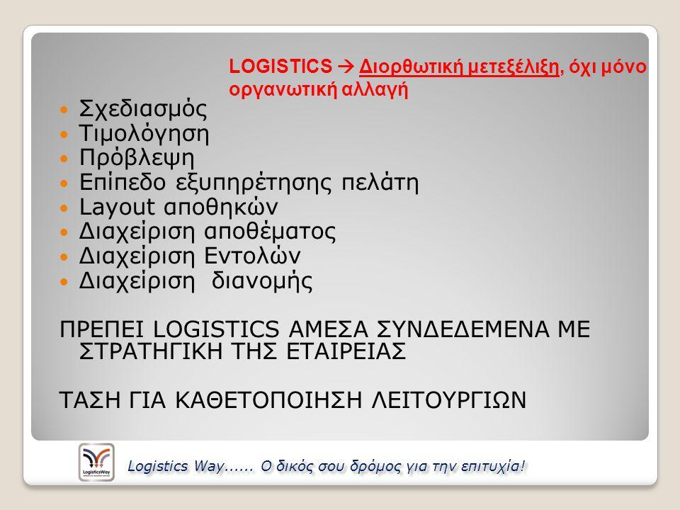 Το σύστημα περιλαμβάνει τις εξής λειτουργίες: Ταρίφες – Τιμοκατάλογοι ◦Διαχείριση τιμολογιακής πολιτικής ◦Ελέγχει τις χρεώσεις ανά μονάδα φορτίου ◦Παρακολούθηση και έλεγχος των συμφωνιών με τους συνεργαζόμενους μεταφορείς Αναφορές – Παραστατικά ◦Παραστατικά Μεταφοράς: Φορτωτικές, Μανιφέστα, Vouchers, Logistics Way......