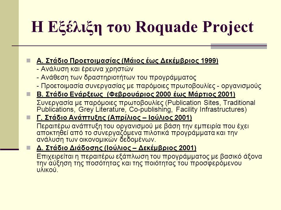Η Εξέλιξη του Roquade Project Α.