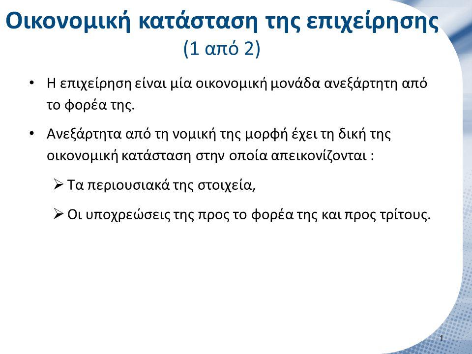 Ισολογισμός (5 από 14) Περιεχόμενο : 3.Από λογιστικής άποψης : ΕΠΙΧΕΙΡΗΣΗ ΑΛΦΑ ΙΣΟΛΟΓΙΣΜΟΣ../../….