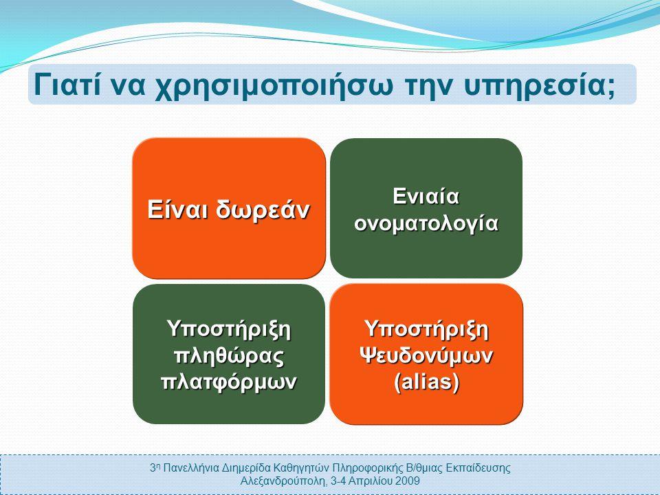 3 η Πανελλήνια Διημερίδα Καθηγητών Πληροφορικής Β/θμιας Εκπαίδευσης Αλεξανδρούπολη, 3-4 Απριλίου 2009 Αξιοπιστία Μετακινήσεις Εκπαιδευτικών Γιατί δεν χρησιμοποιείται; Ονοματολογία ΠΣΔ Τακτική Ενημέρωση Περιεχομένου Ενημέρωση Εκπαιδευτικών