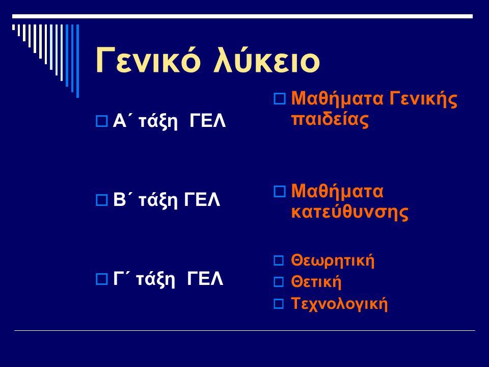 Γ΄ τάξη ΓΕΛ Πανελλήνιες εξετάσεις Πανελλήνιες εξετάσεις Εισαγωγή στην τριτοβάθμια εκπαίδευση Εισαγωγή στην τριτοβάθμια εκπαίδευση