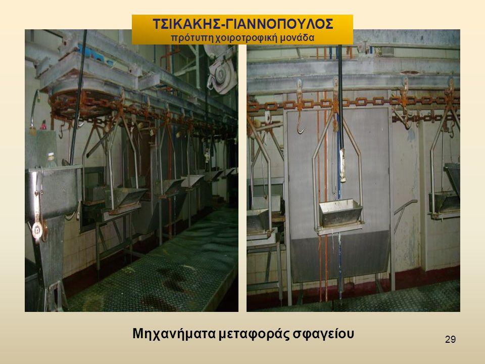 29 Μηχανήματα μεταφοράς σφαγείου ΤΣΙΚΑΚΗΣ-ΓΙΑΝΝΟΠΟΥΛΟΣ πρότυπη χοιροτροφική μονάδα