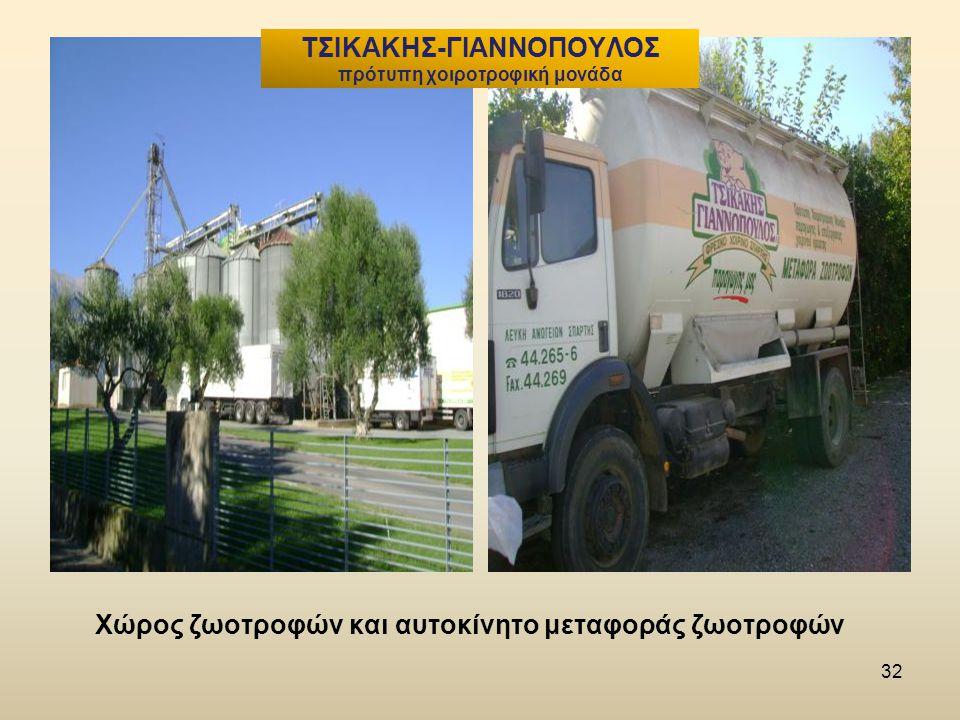 32 Χώρος ζωοτροφών και αυτοκίνητο μεταφοράς ζωοτροφών ΤΣΙΚΑΚΗΣ-ΓΙΑΝΝΟΠΟΥΛΟΣ πρότυπη χοιροτροφική μονάδα