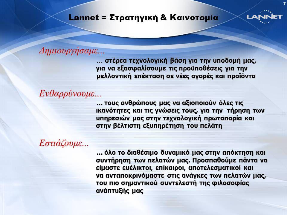 7 Lannet = Στρατηγική & Καινοτομία Δημιουργήσαμε......