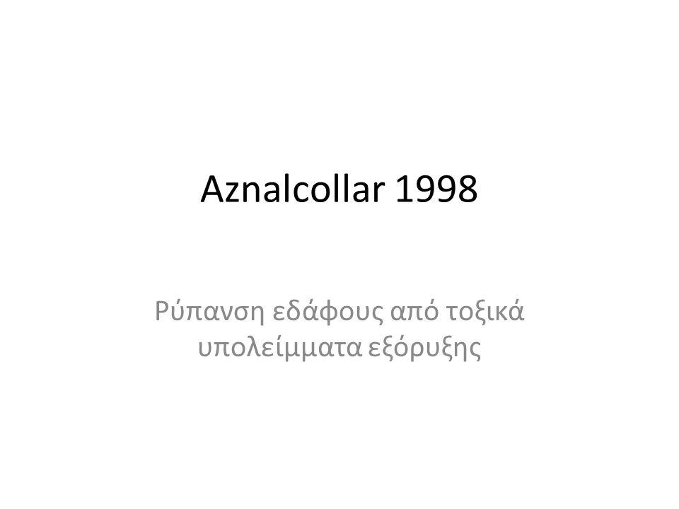 Aznalcollar 1998 Ρύπανση εδάφους από τοξικά υπολείμματα εξόρυξης