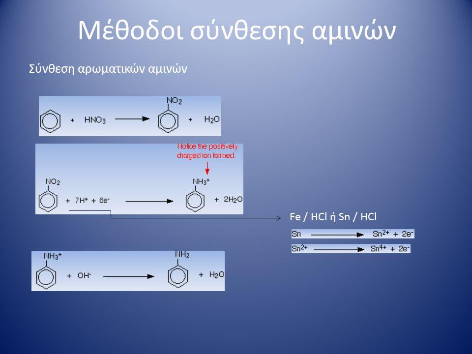 Χημικές ιδιότητες αλειφατικών αμινών πρωτοταγής δευτεροταγής τριτοταγής αμμωνιακά άλατα Αντίδραση με αλκυλαλογονίδια
