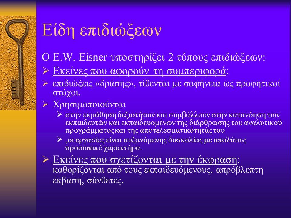Καθορισμός στόχων Δυο βασικά ερωτήματα προκύπτουν από τους στόχους: I.