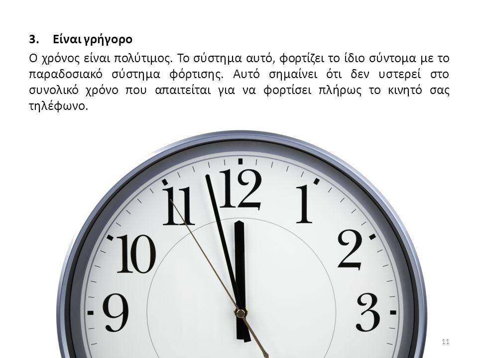 3.Είναι γρήγορο Ο χρόνος είναι πολύτιμος.