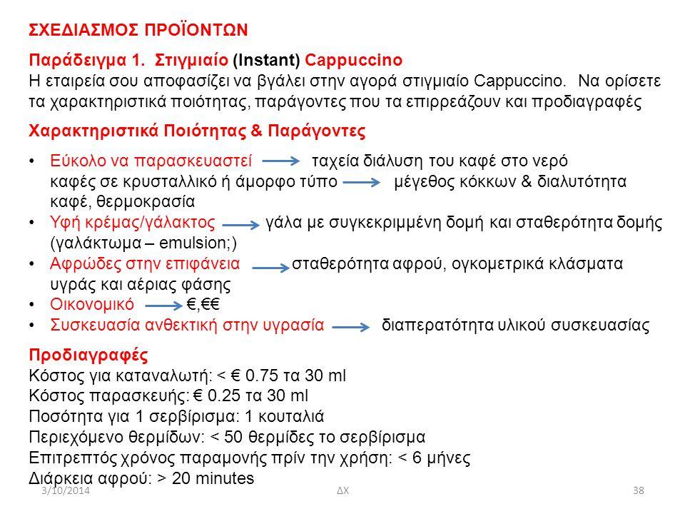 ΣΧΕΔΙΑΣΜΟΣ ΠΡΟΪΟΝΤΩΝ Παράδειγμα 1.