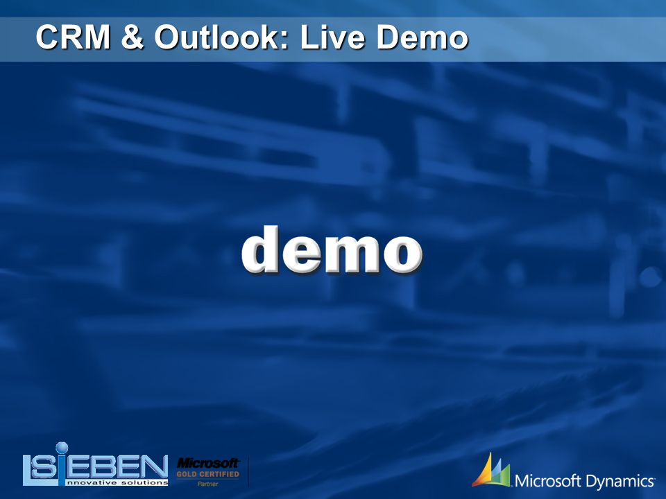 CRM & Outlook: Live Demo