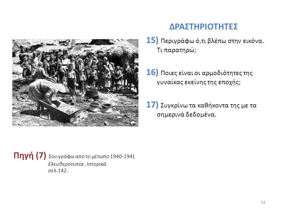 Πηγή (6) Διανομή φαγητού μετά τον Β' Παγκόσμιο Πόλεμο. http://www.google.gr/search?hl=el&biw=1280&bih=709&site=search&tbm=isch&sa=1& q=1941+%CE%BF%CE%
