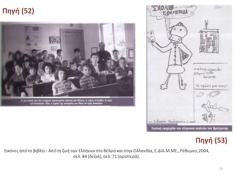 Πηγή (51) Επιστολή του Προξένου της Ελλάδας στο Ρότερνταμ προς το Υ.Π.Ε.Π.Θ. που μεταφέρει επιθυμία των μεταναστών για ίδρυση ελληνικού σχολείου στην
