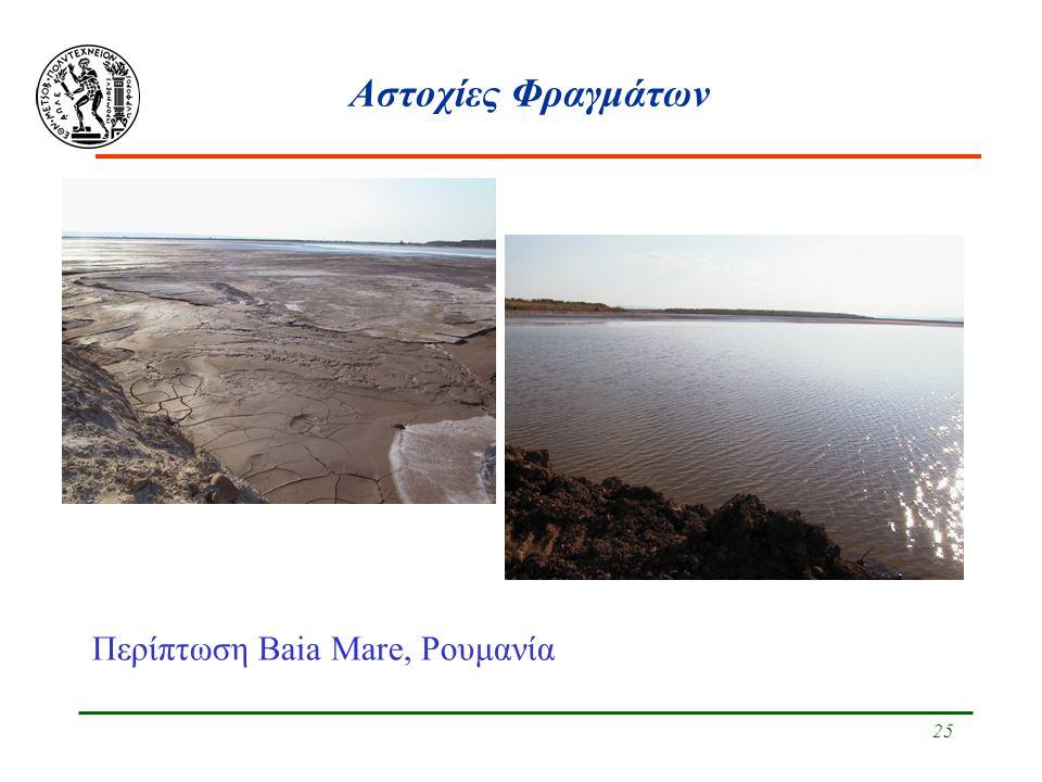 25 Αστοχίες Φραγμάτων Περίπτωση Baia Mare, Ρουμανία