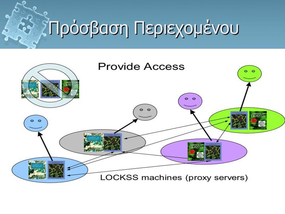 Τζιλιάνος ΝικόλαοςΗλεκτρονική Δημοσίευση - LOCKSS Πρόσβαση Περιεχομένου