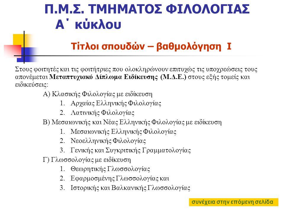 έξι (6) μεταπτυχιακά μαθήματα (παρακολούθηση και επιτυχής εξέταση) στα τρία πρώτα εξάμηνα, δηλαδή δύο (2) σε κάθε εξάμηνο Από αυτά τα μαθήματα  τα τέ