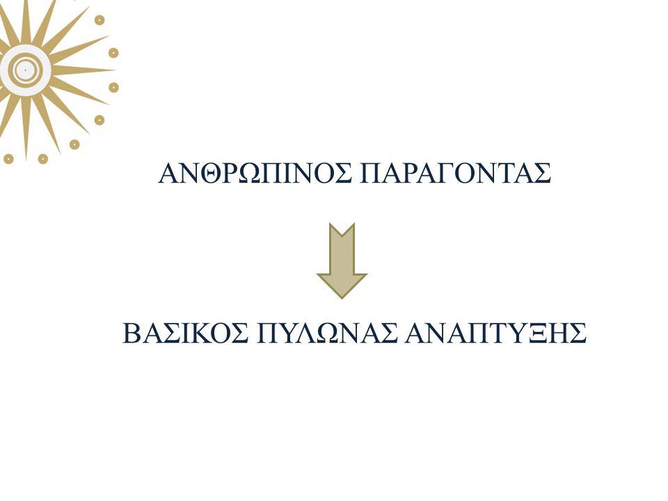 ΑΝΘΡΩΠΙΝΟΣ ΠΑΡΑΓΟΝΤΑΣ ΒΑΣΙΚΟΣ ΠΥΛΩΝΑΣ ΑΝΑΠΤΥΞΗΣ