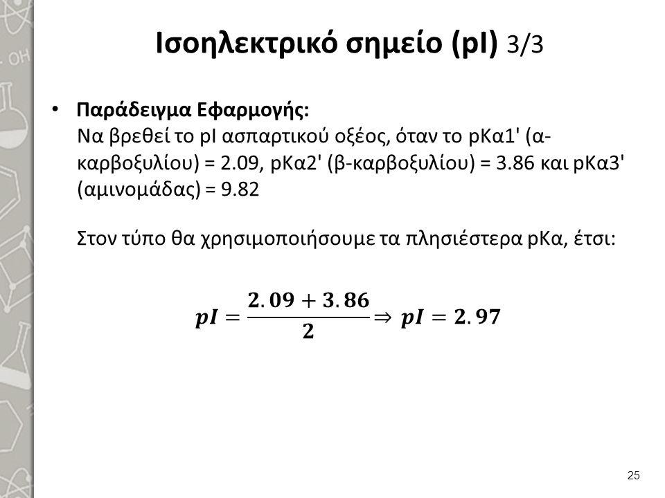 Ισοηλεκτρικό σημείο (pI) 3/3 25