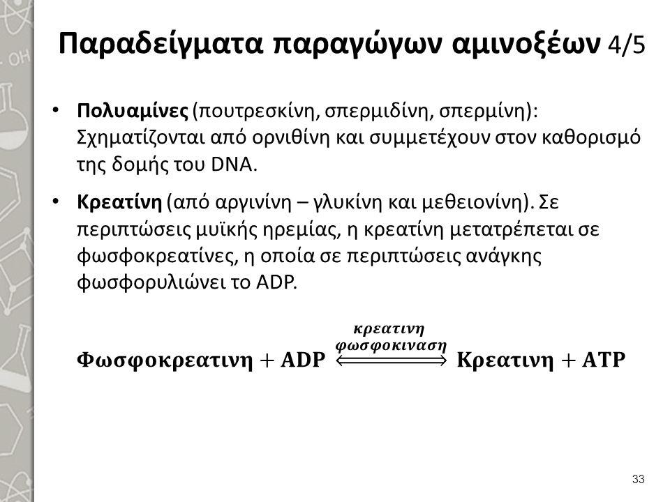 Παραδείγματα παραγώγων αμινοξέων 4/5 33