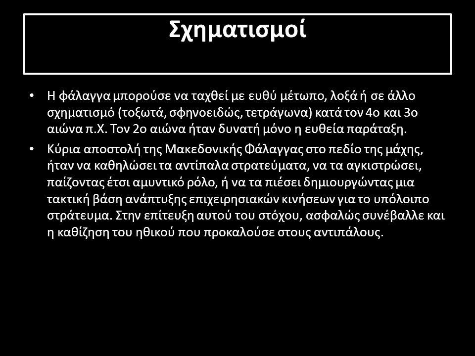 Τακτική Υπό τη διοίκηση του Φιλίππου Β της Μακεδονίας και του γιού του Μ.